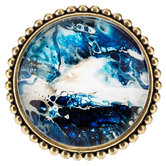 Blue & Gold Watercolor Metal Knob
